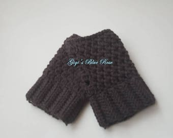 Crochet Fingerless Gloves/Ready to Ship