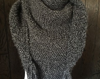 Outlander Inspired Hand Knit Claire's Shawl Scarf Wrap