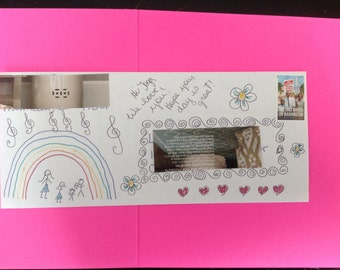 Happy Mail, Receive a Flat Envelope With Up to One Oz of Ephemera, Themes Vary, Can Be Personalized