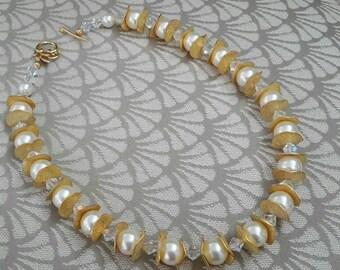 Big Swarovski Pearls & Crystals Necklace Set