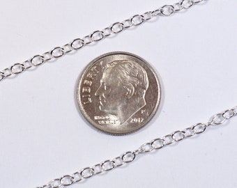 3mm Oval Cable Chain - Sterling Silver - SS921 - Made in USA