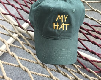 My Hat - Forest Green With Gold Lettering