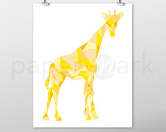 Giraffe Print, Giraffe Wall Art, Wall Decor, Giraffe Decor, Nursery Decor, Nursery Print, Nursery Art, Baby Shower, Yellow Giraffe