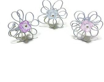 Boho flower wire ring/ wire ring/ boho flower ring/ hippie flower ring/ boho ring / boho statement ring/ statement flower ring/ flower ring