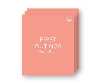 1st Outings | Additional Baby Book Page Pack