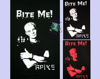 Spike Bite Me T-Shirt - Custom Printed - Your SIZE and COLOR - Short Sleeves - Men's or Women's tee