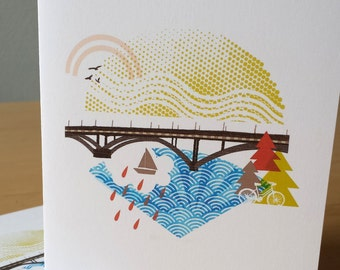 New Sellwood Bridge Portland Notecards