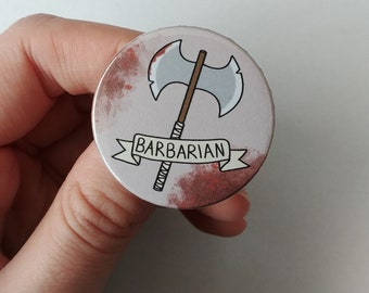 Pin Button 38 mm barbarian