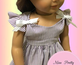 """18 Inch Doll Clothes, American Girl Doll Clothes, 18"""" Doll Clothes Pattern, Doll Clothes Pattern, 18"""" Doll Pattern pdf, Doll Dress Pattern"""