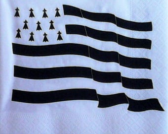 Paper flag BRETON towel 704