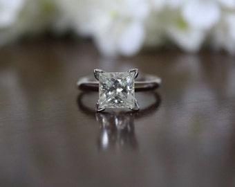 2.2 Carat Forever Brilliant Moissanite Solitaire Wedding Engagement Ring - 2.2 ct Moissanite Engagement Ring For Women
