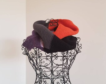 Pure wool infinity scarf/cowl