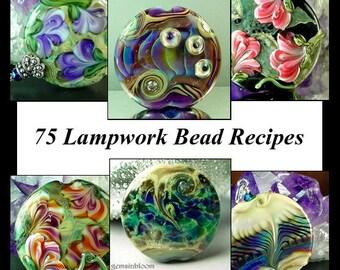 Jacqueline Parkes - 75 Lampwork Bead Recipes Plus Bonus Floral Cane Tutorial