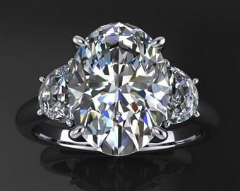 jessica ring - 3.5 carat oval ZAYA moissanite engagement ring, oval engagement ring