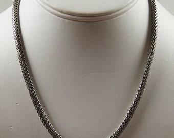 Silver Cord Necklace With Marcasite Clasp