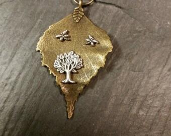 Leaf Pendant Tree of Live  BL-0002