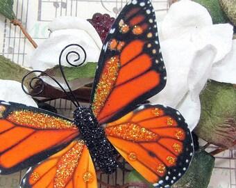 Butterfly Embellishments Pumpkin Spice Monarch