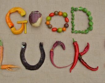 GOOD LUCK!  Greeting card Blank inside