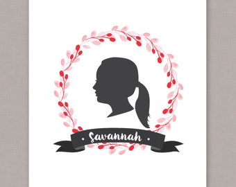Custom Profile Silhouette made from your own photo!! - Digital File