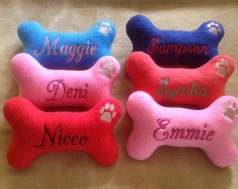 Personalized  Dog Bone Shaped Dog Toy with Squeaker-Small
