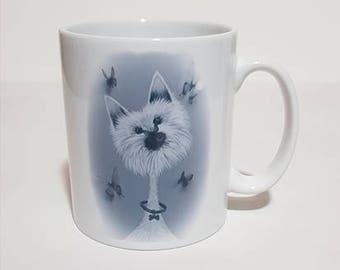 Dog Mug - Black and White