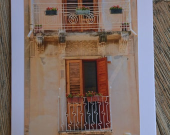 Note card & envelope: Sicily
