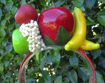Tropical Fruits Headband - Carmen Miranda style - APPLES AND BANANAS -