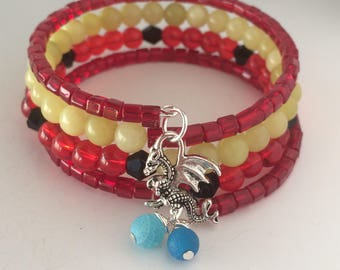 Mushu Bracelet, Mulan Bracelet, Disney Bracelet, Dragon Bracelet, Mushu Wrap Bracelet, Mushu, Disney Jewelry, Mushu Dragon Bracelet, Dragon