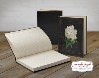Flowers C 5x7 Hardback Bound Journal -Inspirational, Word Art