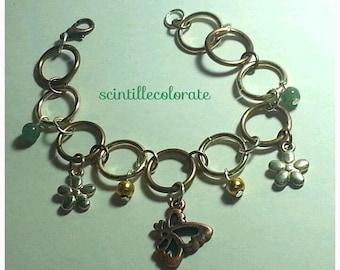steampunk bracelet with pendants