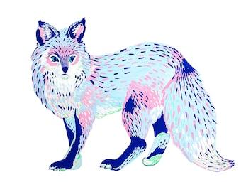 Archival Print: Neon Fox