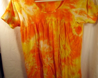 Sunbeam Baby Doll Blouse Tie Dye Shirt