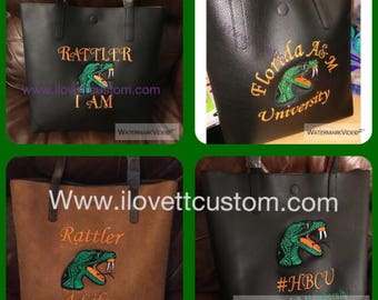 Famu Florida A & M university tote bag