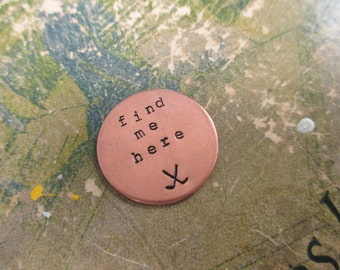 The Charlie Marker - Custom Hand Stamped Copper Golf Ball Marker