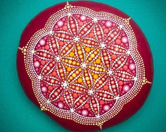 Sacred Mandala Stone 'Dawn of Life'