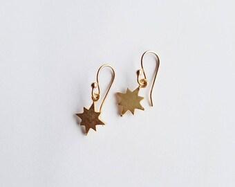 Celestial Earrings • Celestial Jewelry • Star Earrings • North Star Earrings • Gold Dangle Earrings