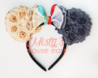 Inspired Lady and the Tramp Floral Rose Mouse Ears