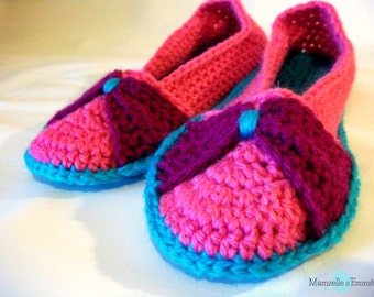 ready to ship crochet bow slippers