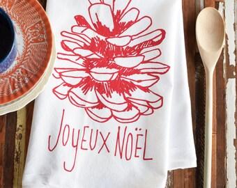 Tea Towels - Screen Print Tea Towel - Flour Sack Towel - Christmas Towels - Kitchen Towels - Dish Towels - Tea Towel Flour Sack - Christmas