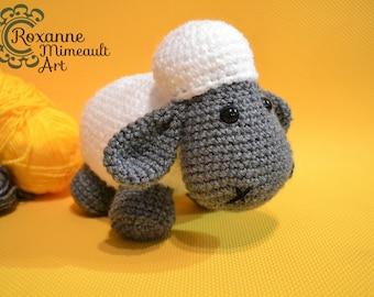 Sheep lamb amigurumi crochet yarn handmade soft toy