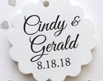 Personalized Wedding Tags, Names and Date Wedding Tags, Wedding Date Tags, Wedding Tags (SC-291)