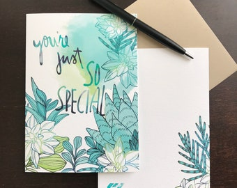 "So Special Greeting Card A7  (5""x7"")"