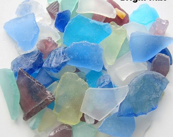 Beach House Decor Bulk Sea Glass, Nautical Wedding Decor Bulk Beach Glass, Bulk Seaglass, Beach Wedding Decor, BRIGHT MIX, 2 Lbs