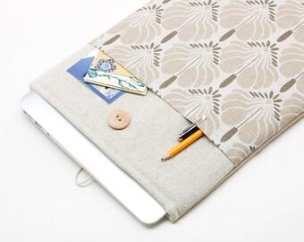 30% OFF SALE White Linen MacBook PRO Case. Case for MacBook 13 Pro (non retina). Sleeve for MacBook 13 Pro with flowers print