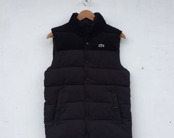 LACOSTE Small Embroidery Logo Lacoste Sleeveless Puffer Jacket Size 2 #825