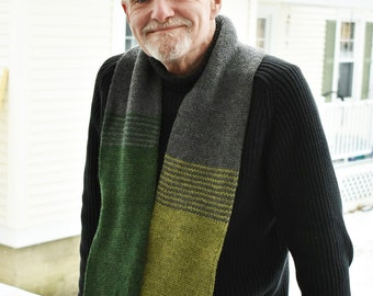 Transitions Scarf - Greens and Gray
