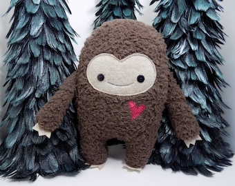 Big Foot stuffed toy, big foot plushie,  kawaii big foot plush doll, monster stuffed animal, monster, sasquatch toy