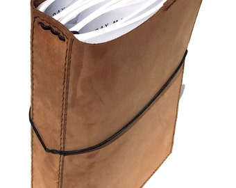 READY TO SHIP Nubuck Travelers Notebook, Soft High Quality Leather with Pockets