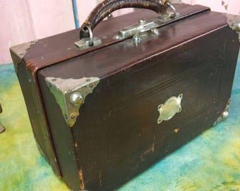 Antique Doctor's bag, case Apothecary case