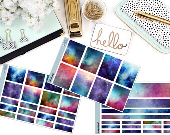 GALAXIES KIT Paper Planner Stickers